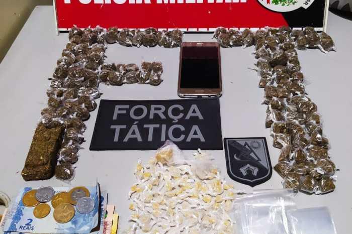 Polícia Militar prende mulher e apreende drogas na cidade de Monteiro