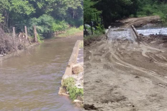 Secretaria de Agricultura de Monteiro realiza reparos no acesso para estrada do Sítio Tinguí