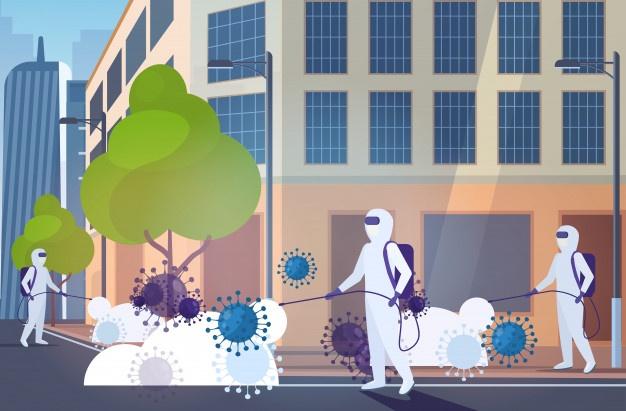 Secretaria de Saúde de Monteiro realiza desinfecção de ruas próximo a centros de Saúde
