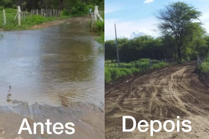Prefeitura de Monteiro realiza recuperação de estradas nos Sítios Barreiros e Mulungu
