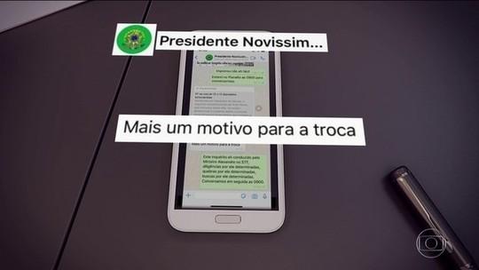 Moro exibe mensagens em que Bolsonaro cobra mudança no comando da PF