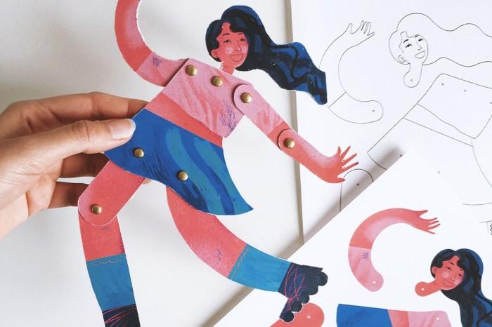 Bonecas de papel estimulam a criatividade na quarentena