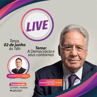 Abradep promove palestra online com Fernando Henrique Cardoso