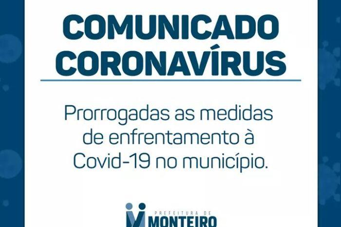 Prefeitura de Monteiro emite novo decreto seguindo disposições do Decreto Estadual