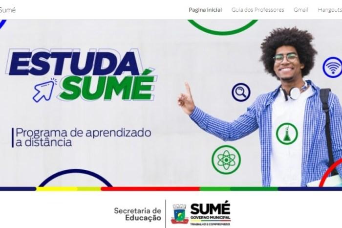 Estuda Sumé: Prefeitura implanta Regime Especial de Ensino por meio de plataforma online
