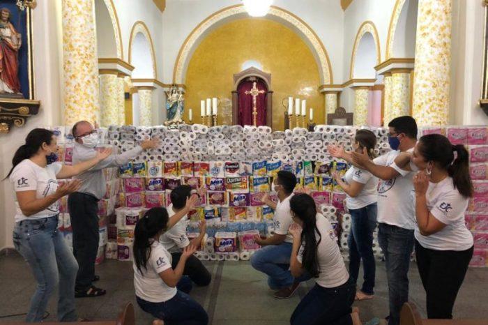 Santuário de N S dos Milagres arrecada 5 mil itens de higiene e doar para Hospital da FAP