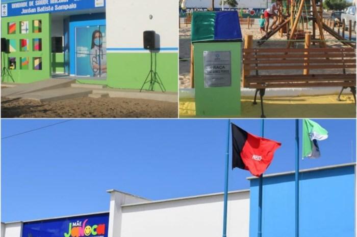 Prefeito André Gomes faz entrega de nova creche modelo, unidade de saúde e praça à população de Boa Vista