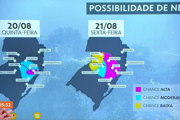 Massa de ar de origem polar deve fazer nevar no sul do país