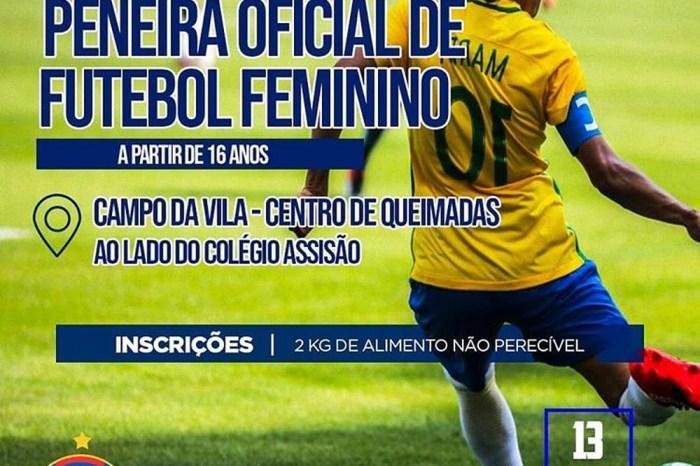 Queimadense agenda seletiva para o Paraibano de Futebol Feminino