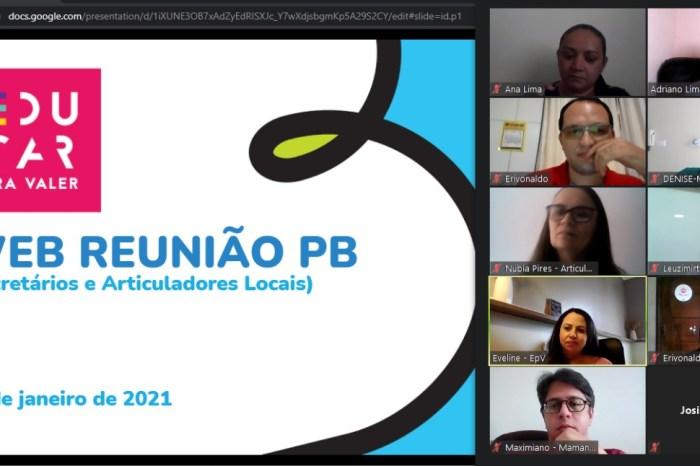 Seduc de Monteiro debate pauta sobre planejamento do início do ano letivo de 2021
