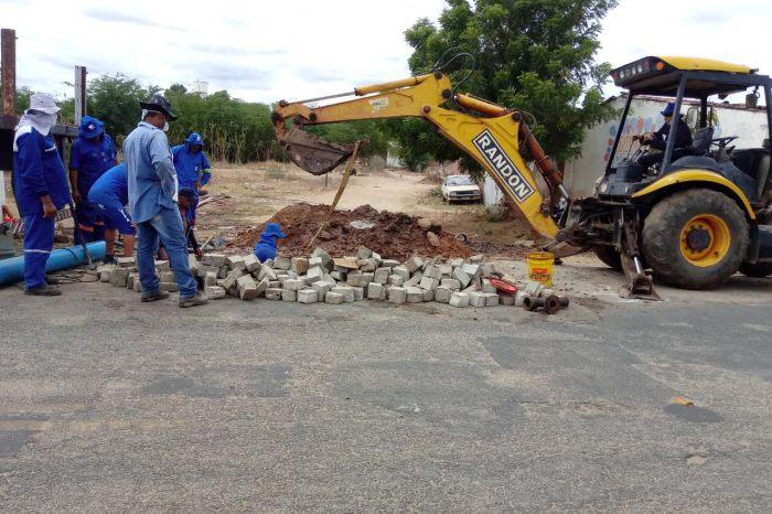Cagepa atende solicitação do prefeito Éden Duarte e realiza extensão de rede de água