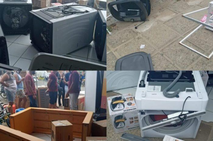 Homem tem surto e quebra móveis e elétricos domésticos do Armazém Paraíba em Monteiro