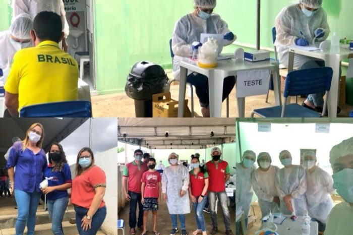 Saúde de Santo André realiza testagem em comerciantes locais em ação de prevenção ao Covid