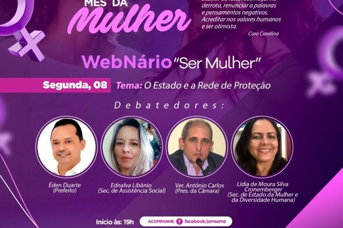 """Webnário """"Ser Mulher"""" discute o Estado e a Rede de Proteção em Sumé e na Paraíba"""