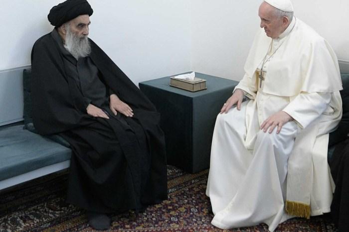 Papa Francisco e aiatolá Ali al-Sistani fazem encontro histórico