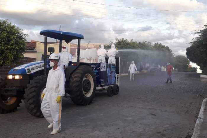 Secretaria de Saúde realiza desinfecção nas ruas: confira o calendário em Sumé