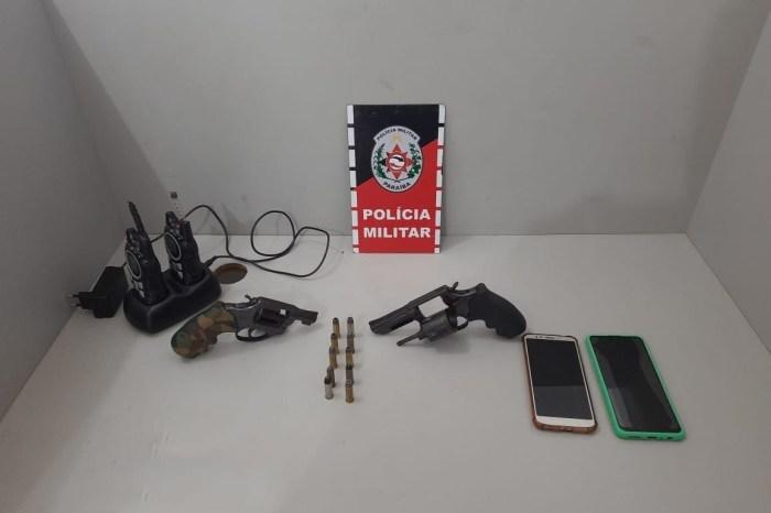 Polícia apreende armas de fogo, munições e radiocomunicadores no Litoral Norte