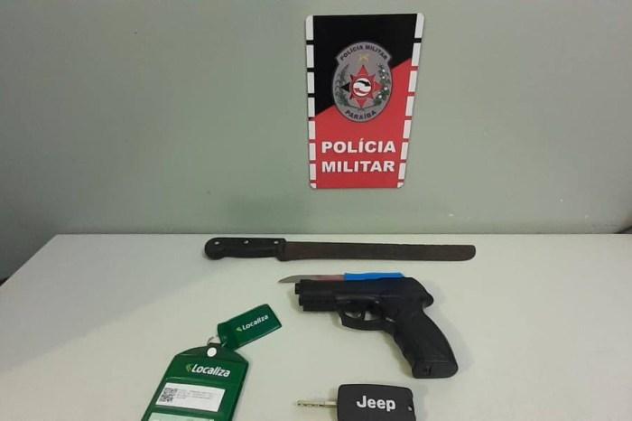 Polícia intercepta carro com suspeitos de planejar roubos em Santa Rita