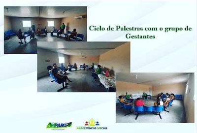 Gestantes do Amparo recebem Kit Gestante e participam de palestra dentro do programa MÃE CORUJA