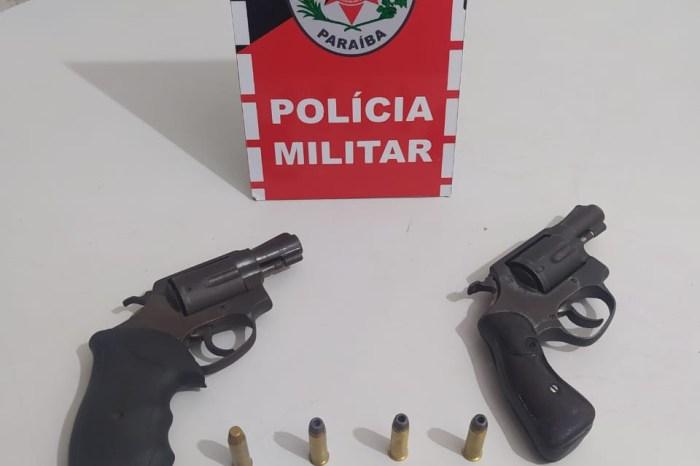 Operação Dia das Mães: PM prende suspeitos e apreende duas armas de fogo em Mamanguape