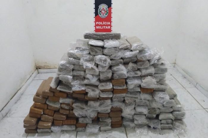 Polícia apreende 164 tabletes de maconha em Santa Rita