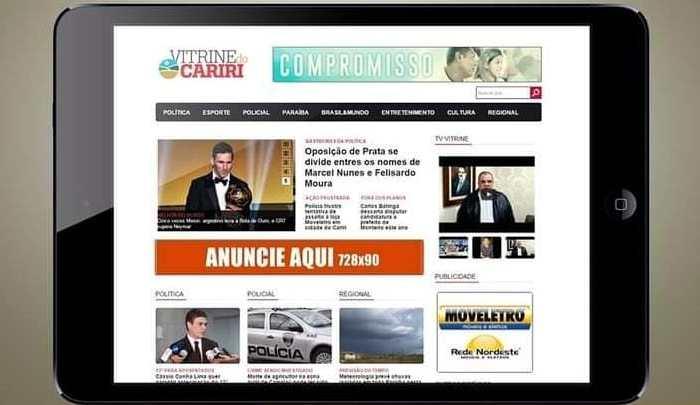 Primeiro jornal eletrônico do Cariri, VITRINE DO CARIRI, chega aos 17 anos de atividades