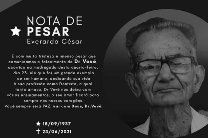 Morre ex-vereador do município de Monteiro Everardo César