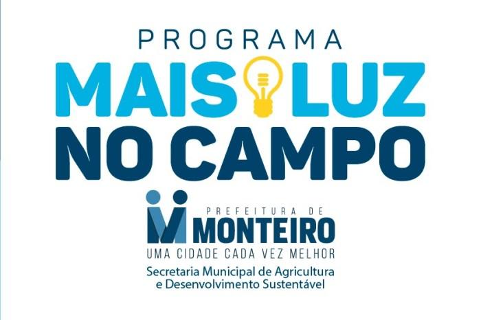 """""""MAIS LUZ NO CAMPO"""": Programa continua atendendo as comunidades rurais de Monteiro"""