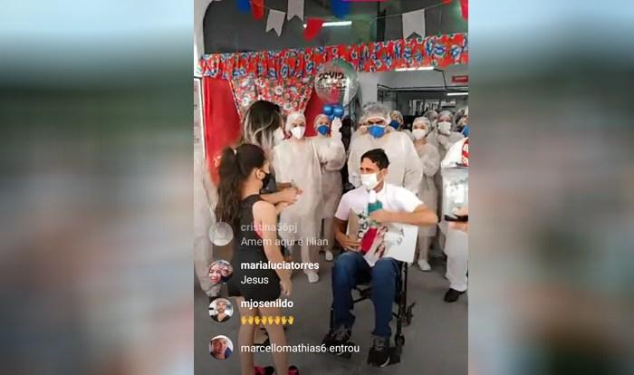 Após ser intubado, ex-candidato a prefeito de cidade do Cariri vence a Covid-19 e deixa hospital