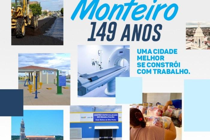 Prefeita Anna Lorena emite mensagem sobre os 149 anos de Emancipação política de Monteiro