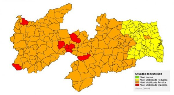 Municípios do Cariri permanecem na bandeira laranja em avaliação do Plano Novo Normal