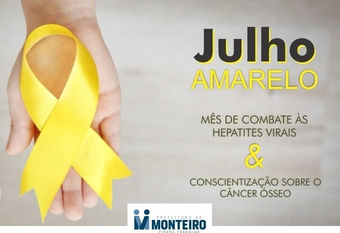 Monteiro: SMS destaca mês de conscientização sobre as hepatites virais e câncer ósseo
