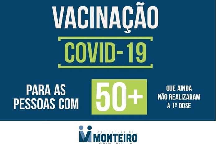 MONTEIRO: População acima de 50 anos será vacinada a partir da segunda-feira, 05