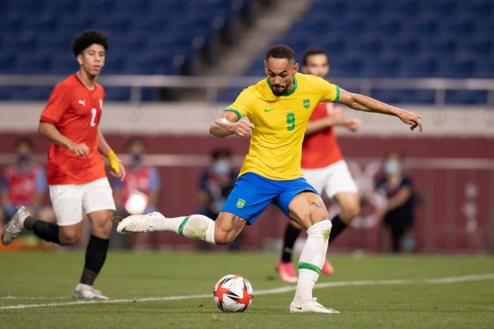 Paraibano Matheus Cunha marca novamente, Brasil bate o Egito e vai à semi na Olimpíada