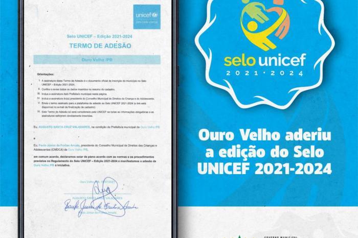Prefeito de Ouro Velho assina termo de adesão ao selo UNICEF