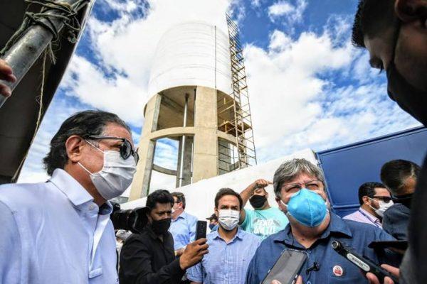 João visita obras em 2 cidades da PB com investimentos de mais de R$ 21 mi