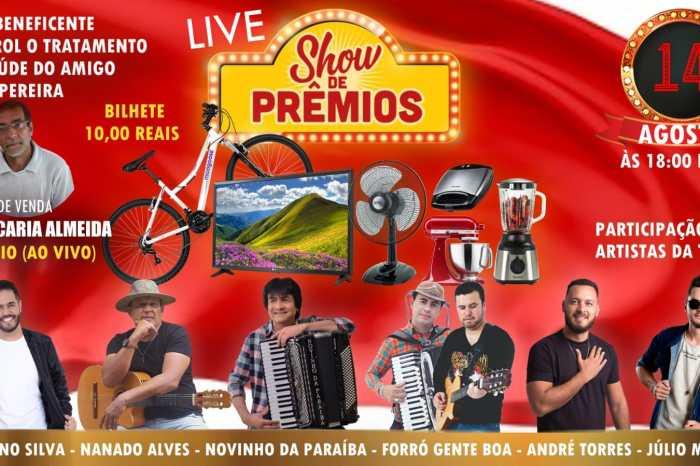 Artistas monteirenses realizam Live Beneficente e sorteio de prêmios no próximo sábado