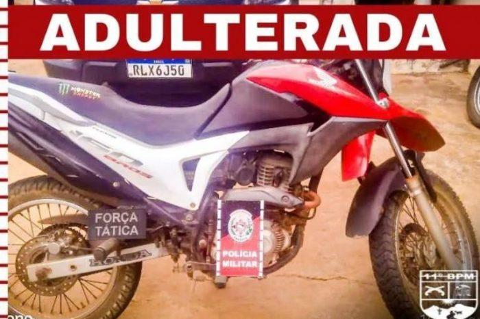 Moto adulterada é apreendida na zona rural de Monteiro