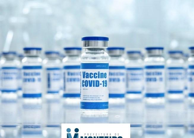 COVID-19: Com a chegada de mais vacina, Monteiro segue vacinando público acima dos 35 anos