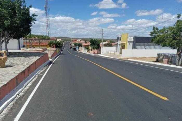 Governo da Paraíba conclui pavimentação da travessia urbana de Parari