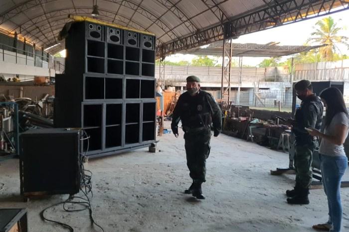 Polícia apreende paredões de som e aplica multas de até R$ 20 mil