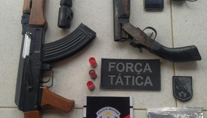 Homem é preso com arma, munições e moto com chassi adulterado em cidade do Cariri