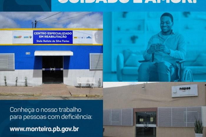 Monteiro comemora conquistas e ações no Dia Nacional de Luta da Pessoa com Deficiência