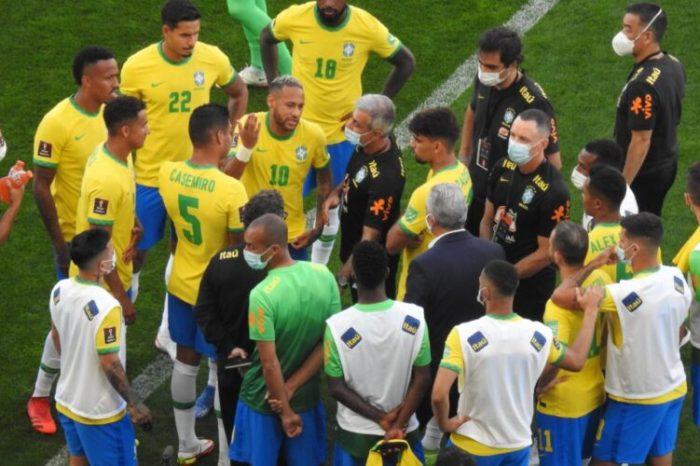 Anvisa paralisa jogo entre Brasil x Argentina; Conmebol emite nota e diz que partida está suspensa