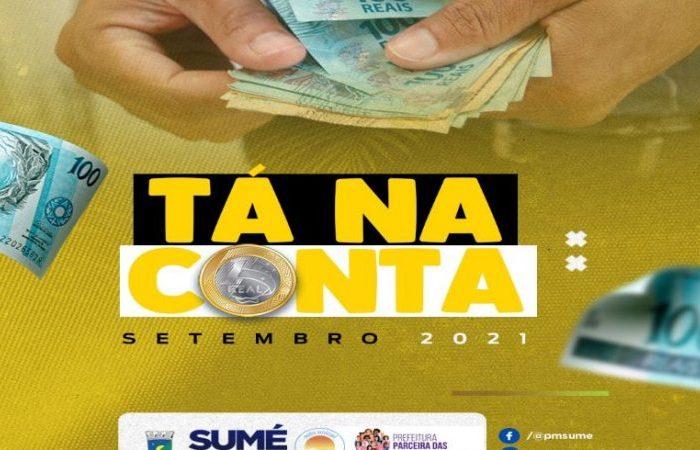 Prefeitura de Sumé conclui pagamento do mês de setembro