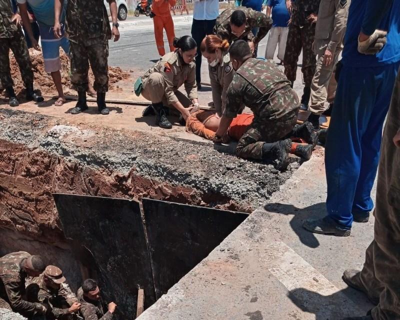 Trabalhadores são soterrados enquanto trabalhavam na triplicação da BR-230