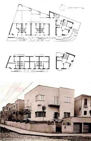 Houses of rent - Mazzini street- 1933, Arch. Rino Levi [ANELLI, GUERRA, KON, 2001]