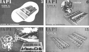 Housing models of the IAPI, done by Carlos Frederico Ferreira for the IV Panamericano Congress of Architects [BONDUKI, 1998]