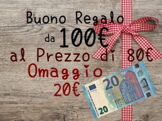 Buono regalo da 100 euro in sconto