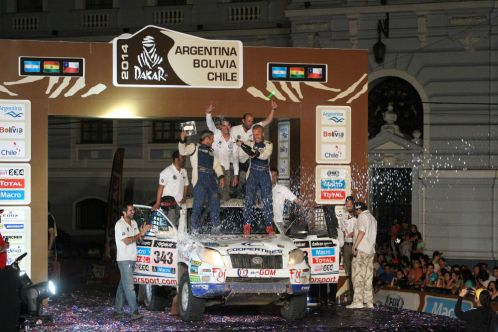 Xavi Foj celebrant la tercera posició al podi de Valparaíso // Foj Motorsport Coopertires
